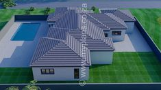 4 Bedroom House Plan – My Building Plans South Africa Split Level House Plans, Square House Plans, Metal House Plans, Free House Plans, Craftsman House Plans, 4 Bedroom House Plans, Family House Plans, Cottage House Plans, Contemporary House Plans