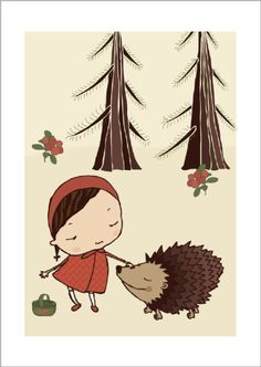 Hedgehog print via Terese Bast Papershop. Click on the image to see more!