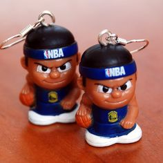 Golden State Warriors Teenymates Earrings by BabyRoomPrints, $20.00