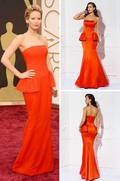 Jennifer Lawrence's glam 2014 #Oscars look!