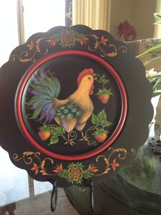 Rosemary West design painted by Charlotte Sullivan Caruso