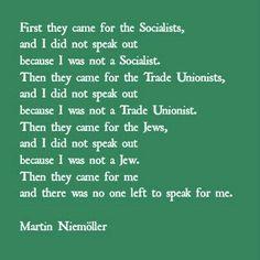 Poem by Martin Niemoller.
