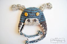 Free Crochet Pattern for a Classy Moose Beanie in ALL sizes from Baby to Adult! via My Merry Messy Life