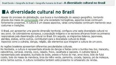 Portal Do Professor, Cultural Diversity