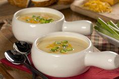 Cheesy Potato Soup   MrFood.com