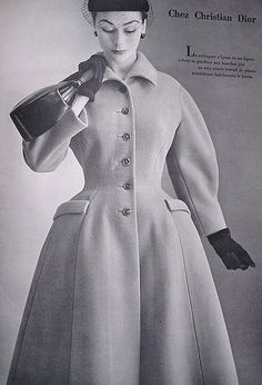 Anne is wearing Christian Dior, 1952