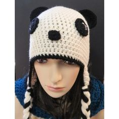 Who doesn't love a Panda? This cute little panda earflap is one of our most requested hats…. Comes in a selection of sizes with a FREE Panda Bear Button. Earflap Beanie, Little Panda, Animal Hats, Panda Bear, Crochet Hats, Cute, Handmade, Fashion, Knitting Hats