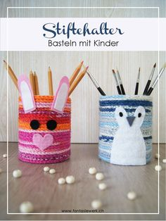 Instructions with free templates to print: Crochet pen holder with animals. Flower Drawing Images, Diy And Crafts, Crafts For Kids, Back To School Crafts, Autumn Crafts, Spring Crafts, Ceramic Beads, Textiles, Pen Holders