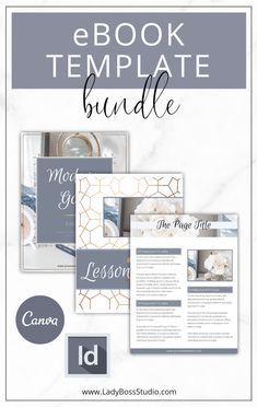 eBook Template Bundle! These eBook templates are fully editable in Canva and InDesign, making them versatile and perfect to use for your audience! Check them out now! Business Quotes, Business Tips, Online Business, Pinterest For Business, Marketing, Virtual Assistant, Blogging For Beginners, Make Money Blogging, Social Media Tips