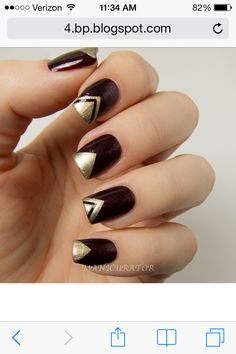 Triangle tips black and gold