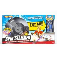 The Rumblers Spin Slammer playset lets you really crank up the destruction. It's like capturing the power of a cyclone when you get that tower spinning. Insert a Rumblers vehicle, crank the handle to pour on the speed.