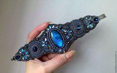"""Купить Комплект с лабрадоритами """"Mystical shine"""" - тёмно-синий, темно синий лабрадорит, синий камень"""