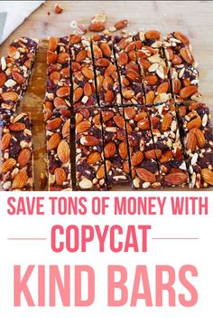 Will replace the honey with a vegan sweetener like maple or agave Copycat Kind Bars - Almond Coconut & Dark Chocolate Sea Salt.