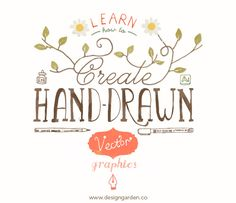 Learn how to create hand drawn vector graphics, online class at Design Garden