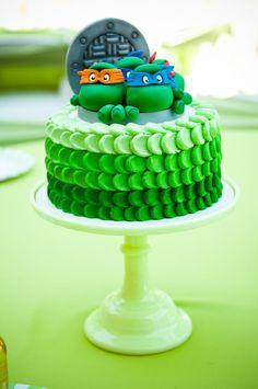 Green Ombre Petal Cake