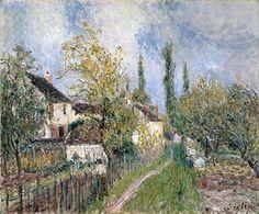 Un chemin à Les Sablons - (Alfred Sisley)