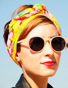 Cute scarf, hair scarf, hair accessories, retro sunglasses, summer