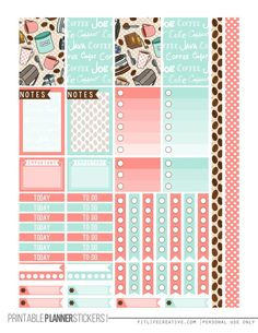 FREE printable BUT FIRST COFFEE Planner Printable Stickers (2 page set)