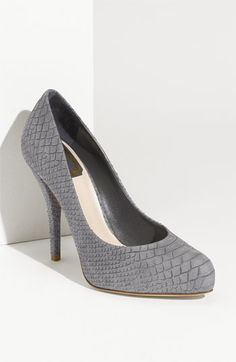 Dior Miss Dior Python Embossed Leather Pump - $660