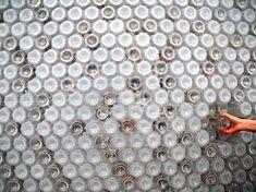 icoolhunitng_fachada botellas agua_diseños_ pet_plastico_taiwan_ edificio_Exposición Floral de Taipei_ecoark_encajar botellas plastico muros detalles