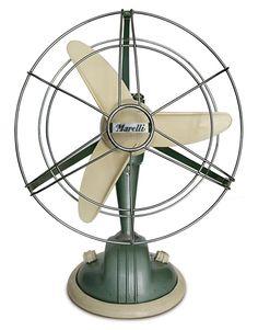 """The Marelli """"O fan - Italian Ways Antique Fans, Vintage Fans, Vintage Antiques, Antique House, Industrial Fan, Antique Shelves, Retro Desk, Old Fan, House Fan"""