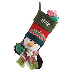 Personalized Christmas Stockings - Let's Personalize That Personalized Stockings, Personalized Gifts, Big Face, Christmas Treats, Christmas Stuff, Xmas, Jingle Bells, Felt Crafts, Christmas Stockings