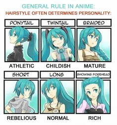 Hairstyles determines different behaviors in anime ~ Hatsune Miku (Vocaloid or Anime? which board! Manga Anime, Pelo Anime, Vocaloid, Chibi, Manga Drawing, Drawing Tips, Drawing Ideas, Drawing Faces, Drawing Tutorials