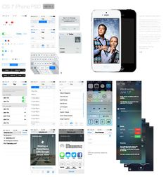 Download The iPhone iOS 7 Beta GUI Kit To Wireframe iOS 7 Apps