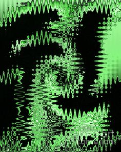 Digital Wave Green and Black Wild Abstract Design by Adri Turner  Art featured on Facebook: https://www.facebook.com/pages/Amazing-Art-and-Artists/755691297800619?ref=hl  Follow us on Facebook: https://www.facebook.com/mindingmyvisions and our website: www.mindingmyvisions.com