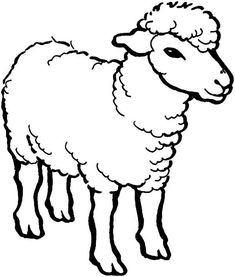 Sheep Coloring Page | ideas | Pinterest | Sheep, Coloring pages and ...