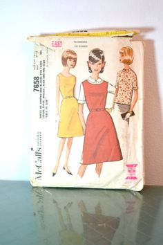1960s Vintage McCall's Pattern 7658 Teen by TabbysVintageShop, $10.00