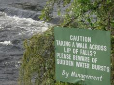 """Caution before you take that adventurous """"walk"""" on the lip of the falls on the Zambezi river, Livingstone - Zambia. Livingstone, Victoria Falls, Take That, Let It Be, And So The Adventure Begins, Travelling, Lips, River, Livingston"""
