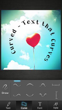 「Curved - Text that Curves」まっすぐ並んだ文字にはもう飽きた!写真に曲線フォントを挿入することに特化した、画像加工アプリ