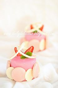 Strawberry white chocolate mousse entremet