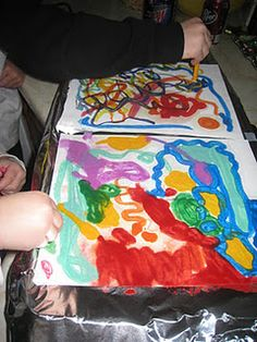 crayon painting...put paper on a griddle and you can use crayons to paint