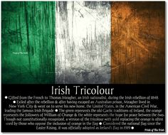 "Irish Tricolour.  My Father always referred to the flag as ""The Green, White, and Gold""."