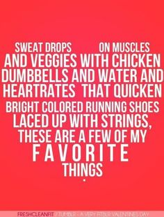 These are few of my favorite things....