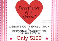 If your website isn't bringing in the business you'd like, maybe it's not sweet-talking your visitors!  Get a website content evaluation for only $199! http://write-start.strikingly.com/