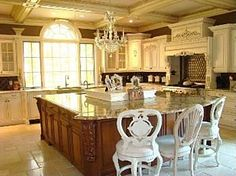 Melissa Gorga's NJ house I would love to have an all white kitchen like this; however with my family it wouldn't remain pretty & clean like this, lol! Beautiful Kitchens, Cool Kitchens, Beautiful Homes, Melissa Gorga House, Decor Pad, Sweet Home, All White Kitchen, Tuscan House, Kitchen Styling