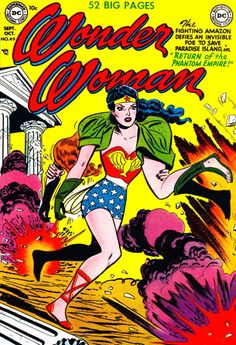 Wonder Woman #49 (October 1951) - Cover by Irwin Hasen and Bernard Sachs