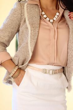StylishPetite.com | Blush and Winter White