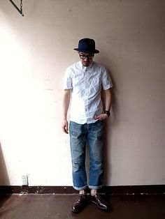 GITMAN VINTAGE 2015 SS vol2 : TODAY IS THE DAY official blog Japan Fashion, Mens Fashion, Fashion Outfits, Stylish Men, Men Casual, Men's Street Style Photography, American Casual, Engineered Garments, Estilo Retro