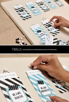 DIY: Escort Cards + Seating Chart