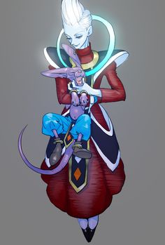 Dragon Ball Super - Whis and Bills (Beerus) Dragon Ball Z, Blue Dragon, Bd Comics, Anime Comics, Manga Dbz, Akira, Dbz Characters, Unique Tattoos, Character Design