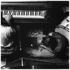 Chet Baker and Teddy Charles by William Claxton.
