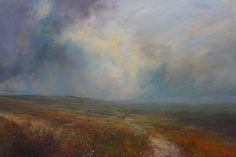 Kristan Baggaley. Evening, Howden Moor. Mixed Media on Canvas