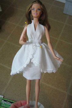 Barbie Halter Dress Tutorial