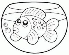 goldfish coloring page - Goldfish Coloring Page