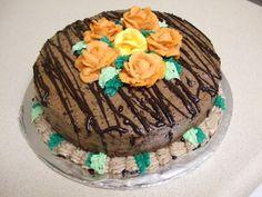 chocolate cake (wilton cake class, roses)