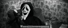 LOL death funny Black and White movie dope hilarious drugs weed lmao b&w pot high scream loud fun phone smile scary movie rotfl KNIFE scary movie 3 pineapple express killer lush what's up pot head Slasher waazuup Scary Movies, Horror Movies, Mode Poster, Halloween Wallpaper Iphone, Halloween Backgrounds, Ghost Faces, Mood Pics, Reaction Pictures, Movies Showing